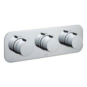 Vado Altitude 3 Outlet, 3 Handle Thermostatic Valve with All-Flo
