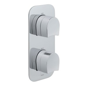 Vado Kovera 2 Outlet 2 Handle Thermostatic Valve with All-Flow