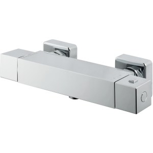 Vema Square Single Outlet Thermostatic Bar Shower Valve