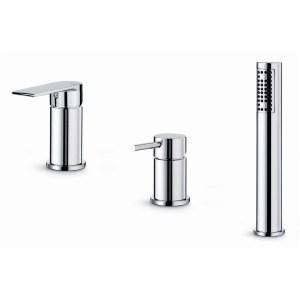 Vema Timea 3-Hole Deck Mounted Bath/Shower Mixer Chrome
