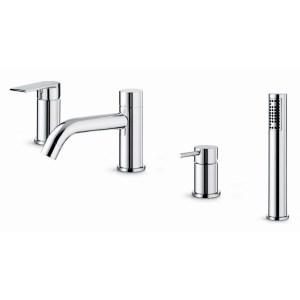 Vema Timea 4-Hole Deck Mounted Bath/Shower Mixer Chrome