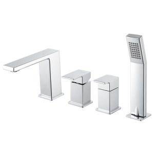 Vema Lys 4-Hole Deck Mounted Bath/Shower Mixer
