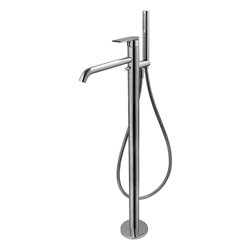 Vema Timea Floor Standing Bath/Shower Mixer Chrome