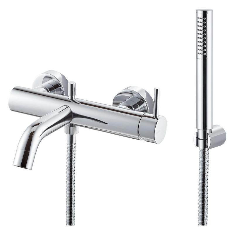 Vema Maira Wall Mounted Bath/Shower Mixer Chrome