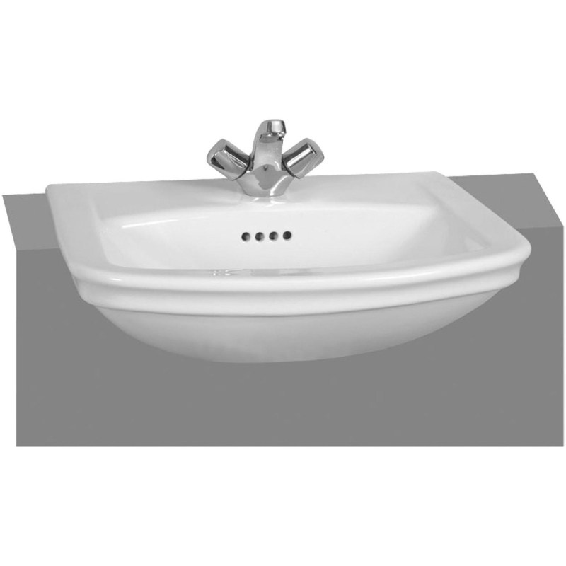 Vitra Serenada Semi Recessed 1 Taphole Basin 56cm White