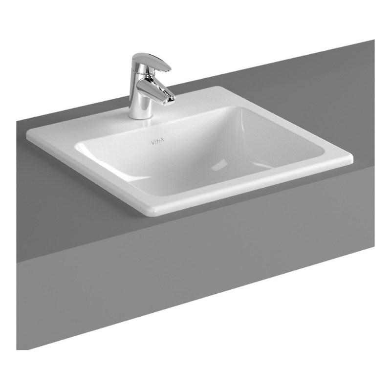 Vitra S20 Compact Countertop Basin 45cm Square 1 Taphole