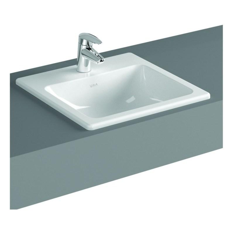 Vitra S20 Compact Countertop Basin 50cm Square 1 Taphole