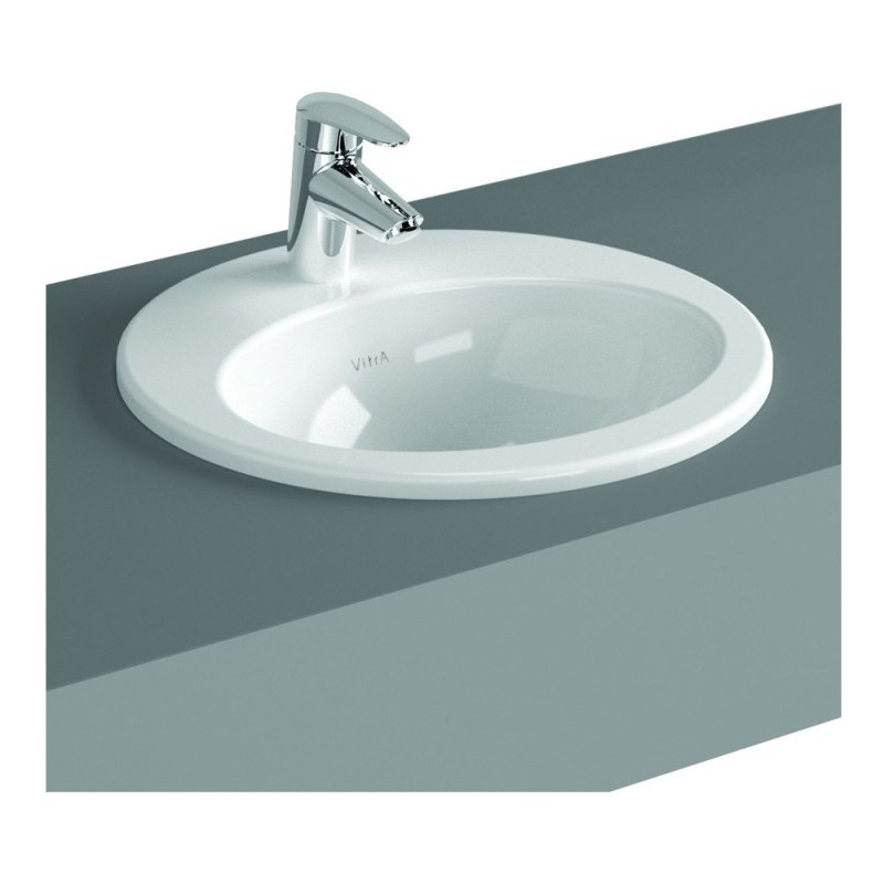 Vitra S20 Compact Countertop Basin 53cm Oval 1 Taphole