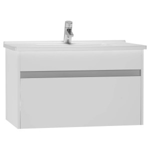 Vitra S50 80cm Washbasin Unit with Basin Gloss White