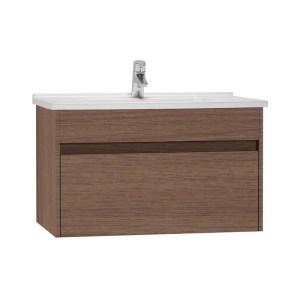 Vitra S50 80cm Washbasin Unit with Basin Oak
