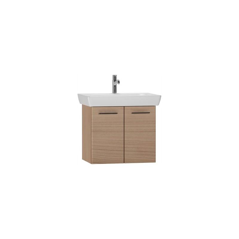 Vitra S20 65cm Washbasin Unit with Basin Dark Cherry