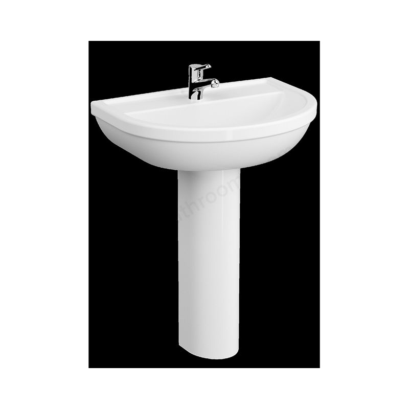 Vitra Milton Washbasin 2 Tapholes 55cm