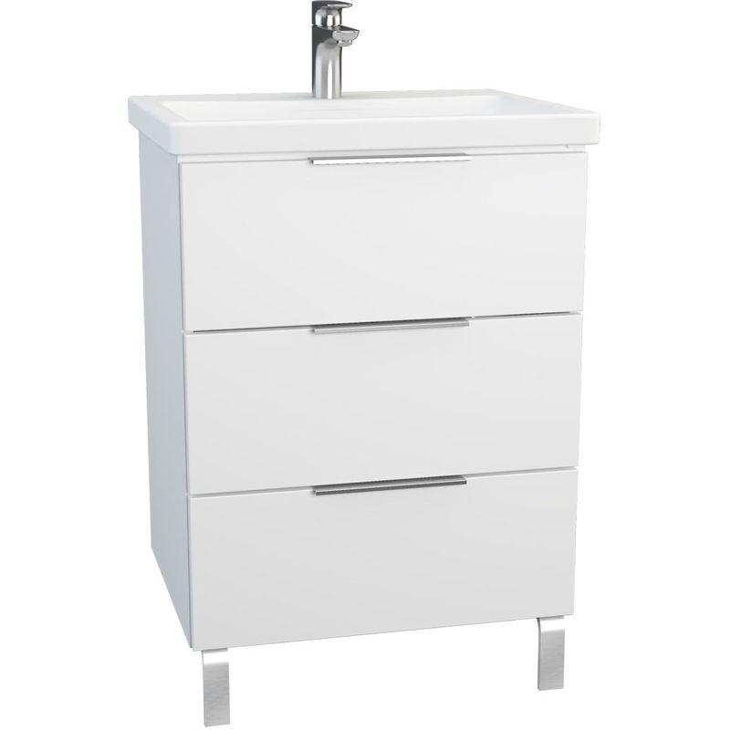 Vitra Ecora 3 Drawer Washbasin Unit & Basin 60cm Gloss White
