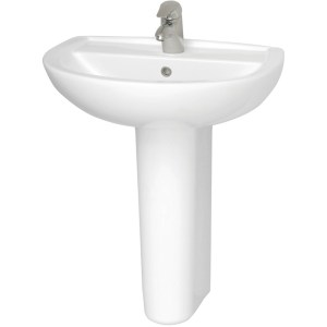 Vitra S50 / Layton Full Pedestal White