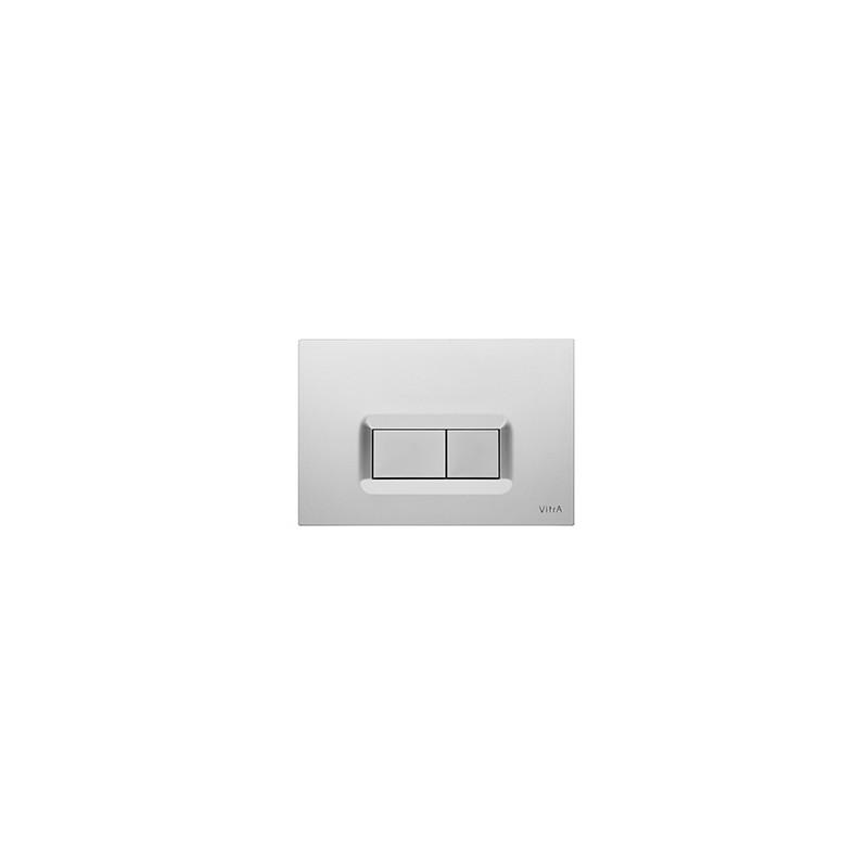 Vitra Loop R Control Panel WC Flush Plate Matt Chrome