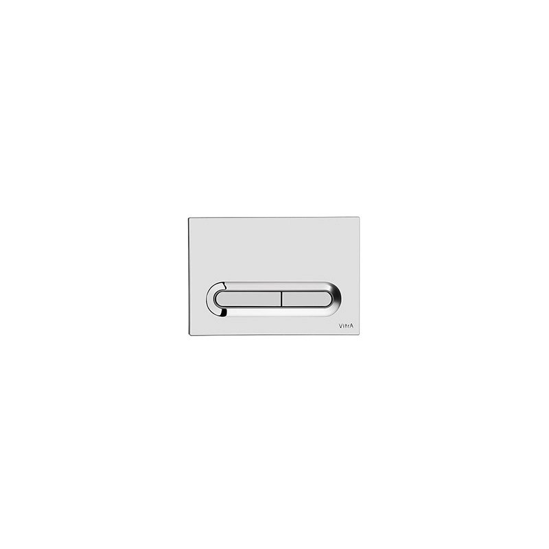 Vitra Loop T Control Panel WC Flush Plate Chrome Plated