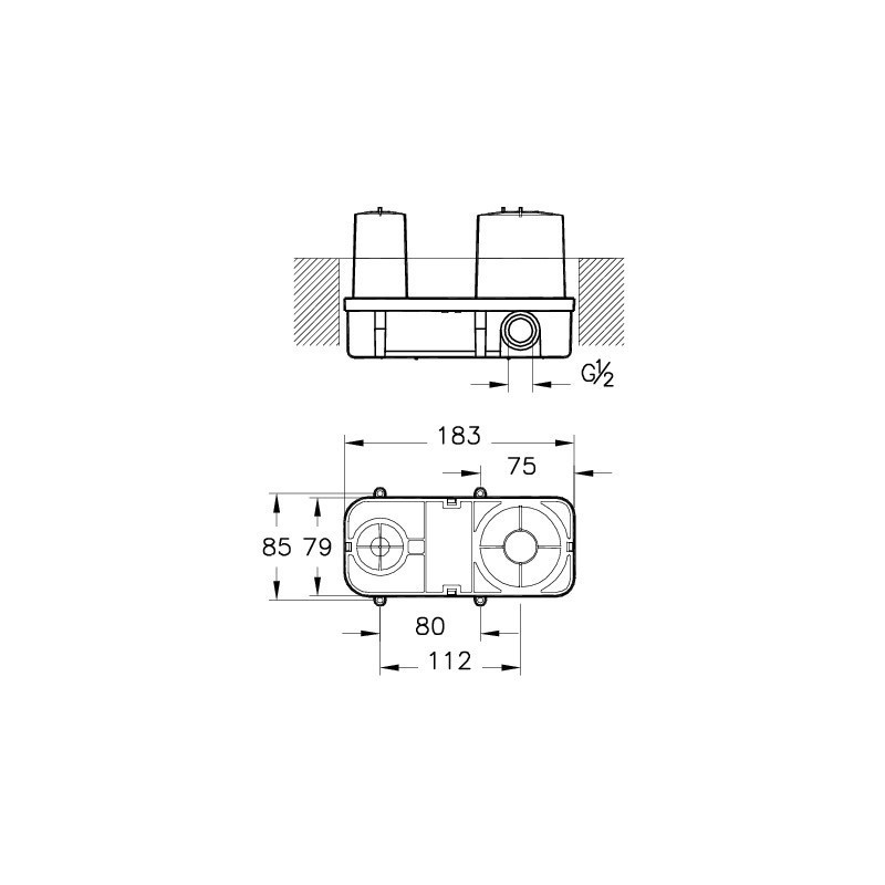 Vitra Q-Line Concealed Part for Basin Mixer A42250