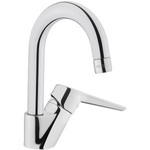Vitra Solid S Basin Mixer with Swivel Spout