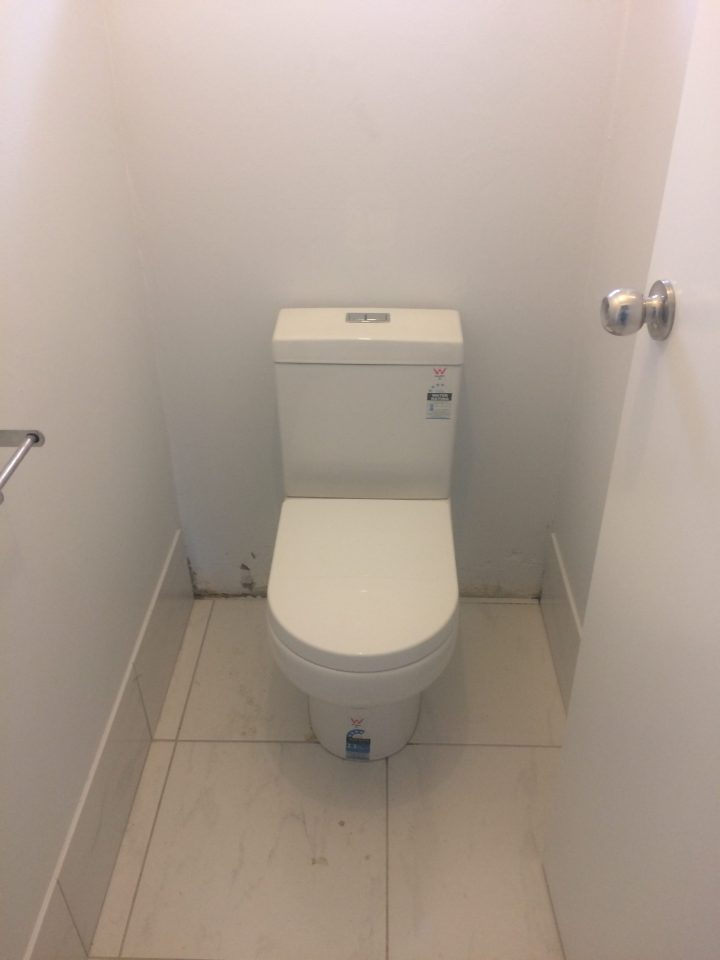 New toilet installed by a professional plumber
