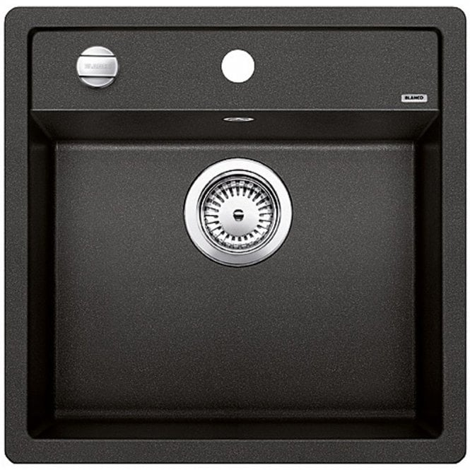 blanco kitchen sink island with pull out table dalago 5 1 0 bowl anthracite black silgranit granite