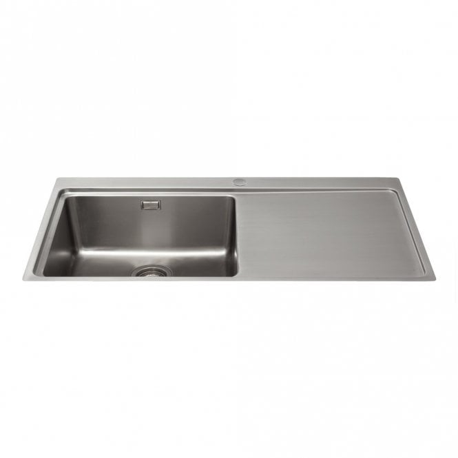 CDA Designer 1 0 Bowl Stainless Steel Flush Fit Kitchen Sink & Waste