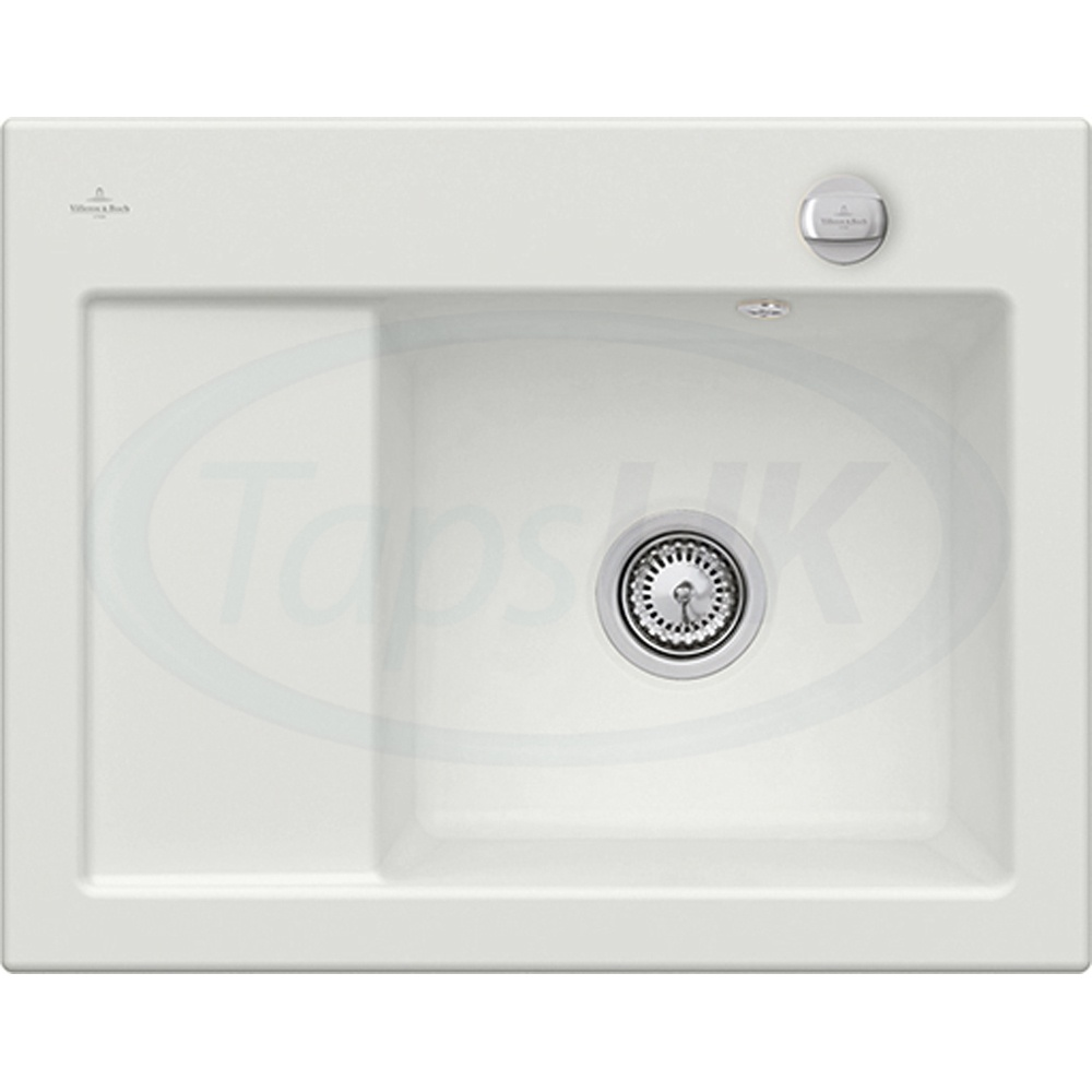 compact kitchen sink table with leaf insert villeroy boch subway 45 1 0 bowl white ceramic lhd no waste