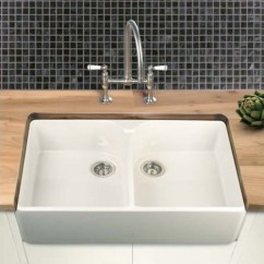 Double Kitchen Sinks For Sale Flooring Options Villeroy & Boch Farmhouse 90 White Ceramic Bowl ...