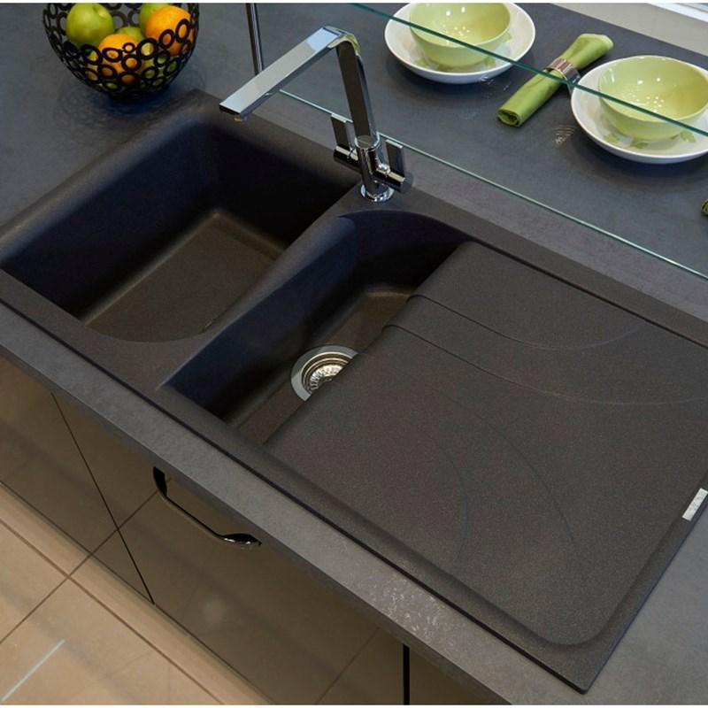33 x 22 kitchen sink floor mats washable reginox ego 1.5 bowl black granite composite ...