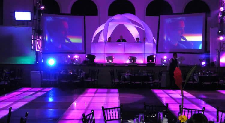 Iluminacin para eventosLuz y sonido Arquitectonica o leds