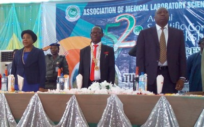 Barr. Anna Ishaku and others during AMLSN Annual Conference