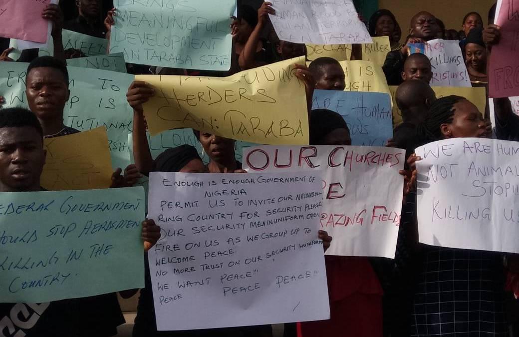 Herdsmen Killings: Christians in Taraba Protest, Seek End to Attacks, Killings
