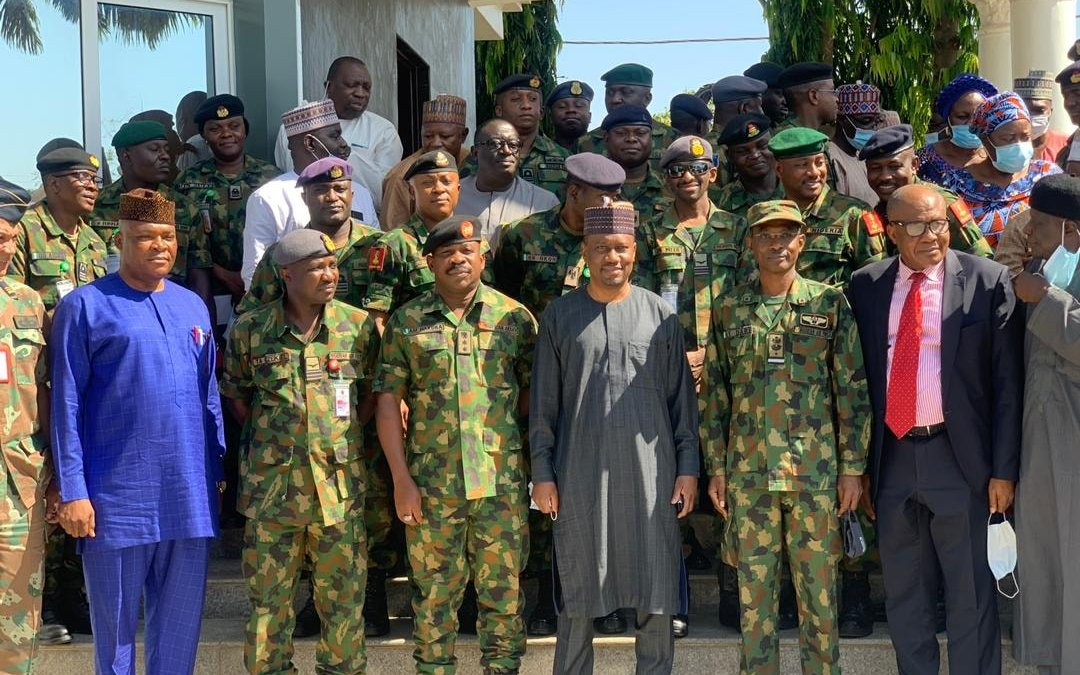 Nigerian Armed Forces Command and Staff College Jaji on a Study Tour to Taraba State