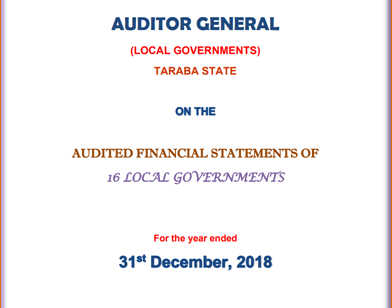 2018 Audited Financial Statements for 16 Local Governments
