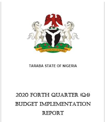 2020 Taraba Fourth Quarter Budget  Implementation Report