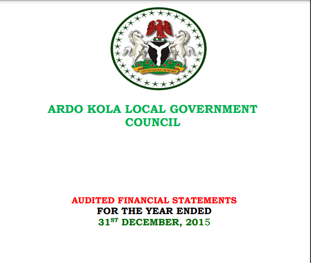 2015 Financial Statements for the 16 Local Governments in Taraba State