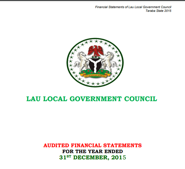 2018 Financial Statements for the 16 Local Governments in Taraba State
