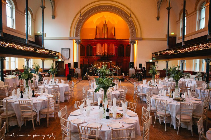 Hackney Round Chapel wedding  Nathan  Alexis  London wedding photographer  Quirky reportage