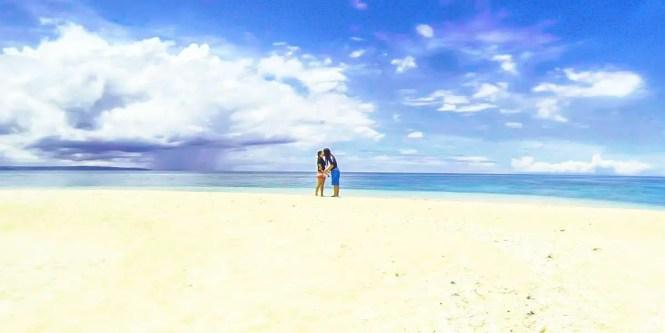 White sand in Sombrero island