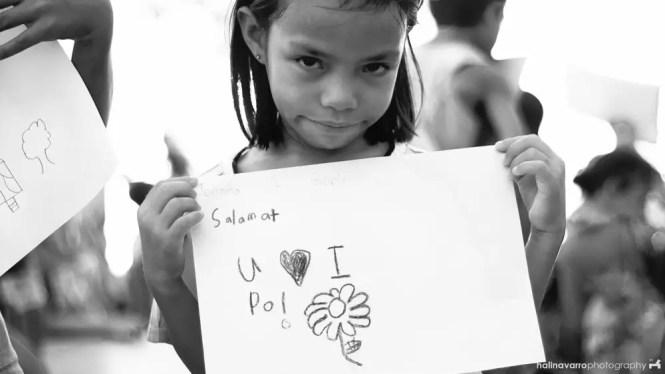 School kid during outreach in Calitaan elementary school