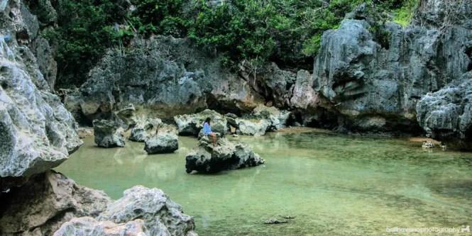 Tangke saltwater lagoon in Gigantes