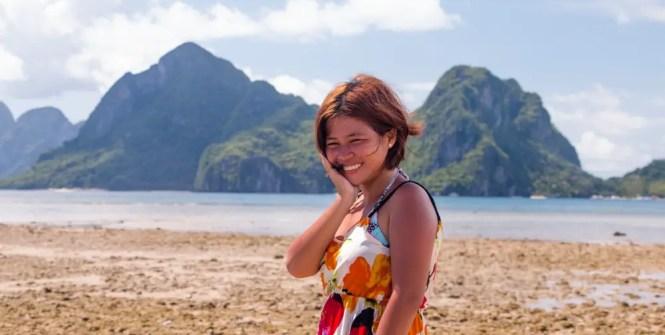 Marimegmeg beach in El Nido, Palawan
