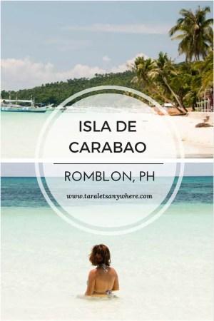 Carabao Island, also called Isla de Carabao, in Romblon. Includes a short travel guide to Carabao Island.