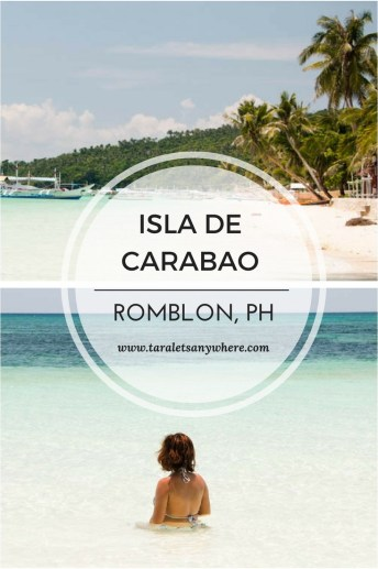 Carabao Island, also called Isla de Carabao, in Romblon. Includes a short travel guide to Carabao Island.