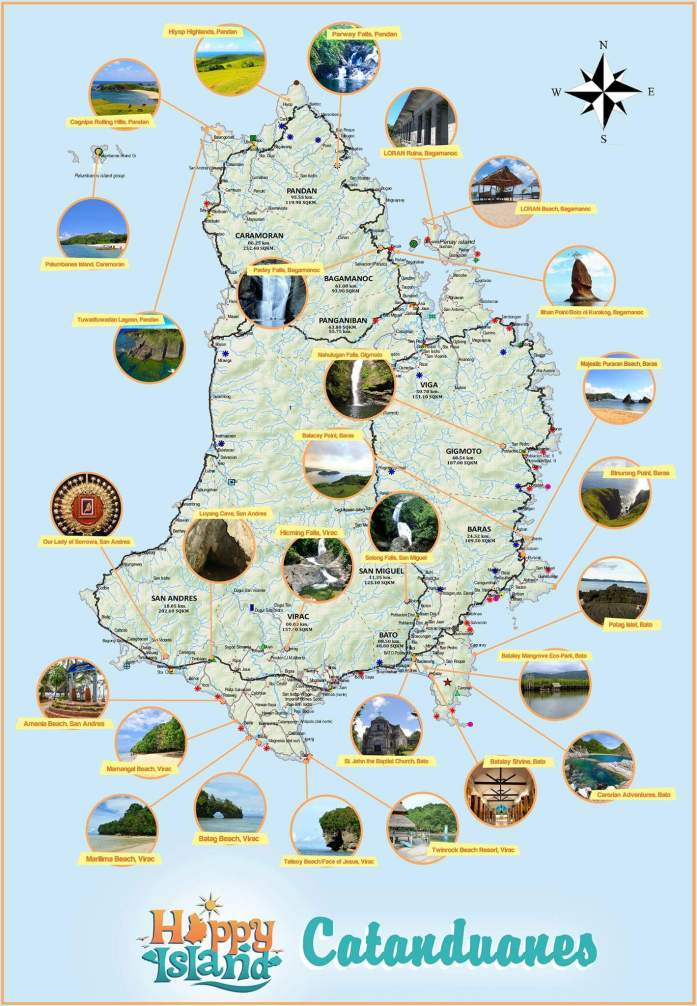 Map of Catanduanes tourist attractions