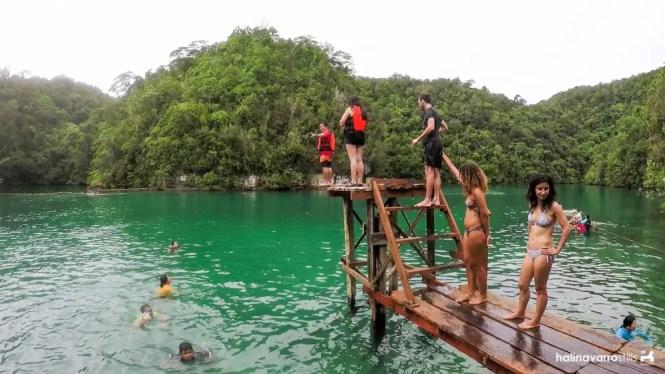 Diving board in Sugba Lagoon, Siargao