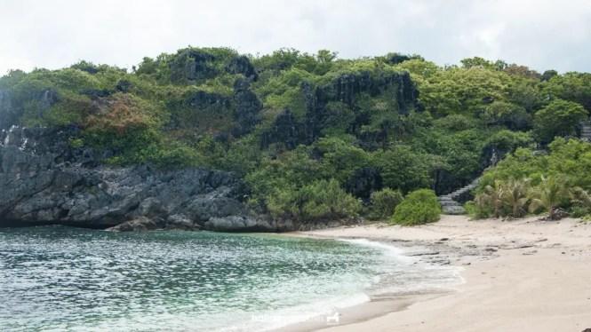 Beach cove in Target Island, Bulalacao