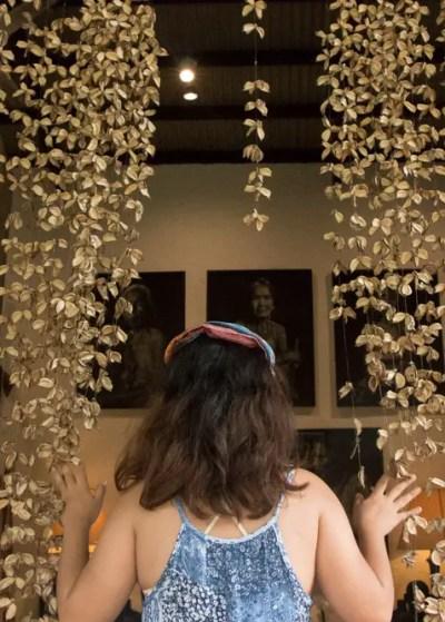 Pinto Art Museum leaf curtain1