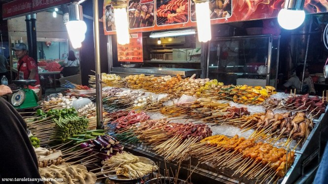 Food for grilling in Jalan Alor, Kuala Lumpur