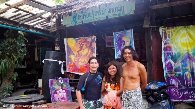 Batik workshop in Lipe Art Garden, Koh Lipe
