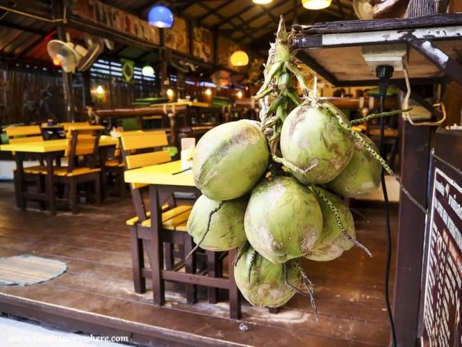 Fresh coconuts in Koh Lipe, Thailand.